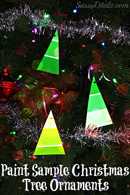 Cheap Paint Sample Christmas Tree Ornament Craft For Kids