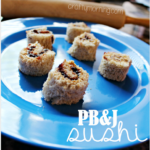 Peanut Butter and Jelly Sushi Snack for Kids