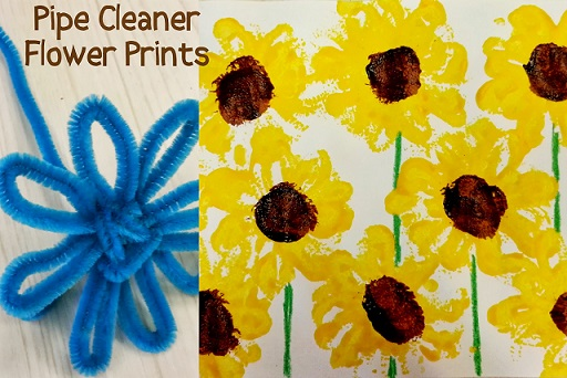 pipe-cleaner-sunflower-craft-for-kids