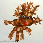 Rudolph the Red-Nosed Reindeer Handprint Art Project For Kids