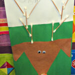 Q-Tip Reindeer Art Project For Kids (Christmas Idea)