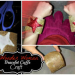 DIY: Wonder Woman Bracelet Cuffs (Easy Super Hero Kid's Craft)