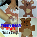 Teddy Bear Tear Kid's Craft (Cheap & Easy - No Scissors Required!)