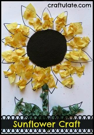 tissue-paper-sunflower-craft-for-kids