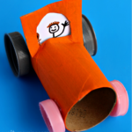 Simple Toilet Paper Roll Car Craft for Kids