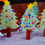 DIY Christmas Tree Toilet Paper Roll Craft For Kids