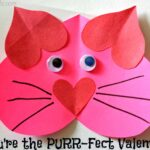 "Valentine Heart Cat Craft For Kids - ""You're The PURR-Fect Valentine!"""