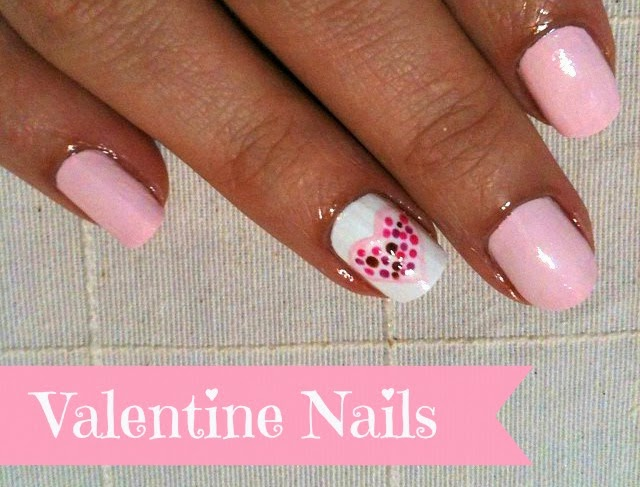 DIY Valentine's Day Heart Nail Designs