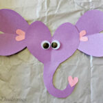 Valentines Day Elephant Craft For Kids (Toilet Paper Roll or Card)