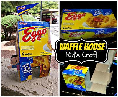 DIY: Recycled Eggo Waffle Box House (Easy Kid's Tape Craft)