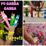 DIY: Yo Gabba Gabba Finger Puppets (Cheap Kid's Craft)