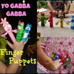DIY: Yo Gabba Gabba Finger Puppets (Cheap Kid's Craft)