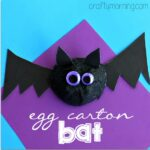 Egg Carton Bat Halloween Craft for Kids