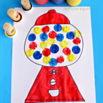 Gumball Machine Craft for Kids Using Wine Corks