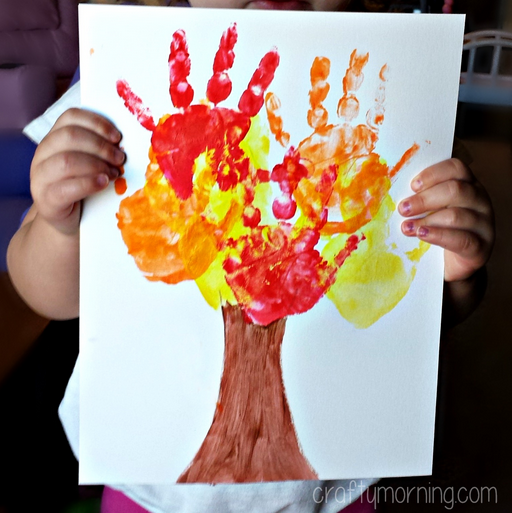 Kids Handprint Fall Tree Craft Crafty Morning