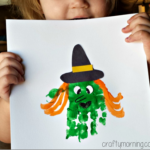 Handprint Witch Craft for Kids to Make