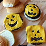 Jack-o-Lantern Pumpkin Cheeseburgers for Kids