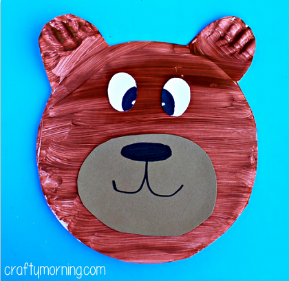 paper-plate-bear-craft-for-kid