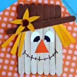 Popsicle Stick Scarecrow Craft for Kids