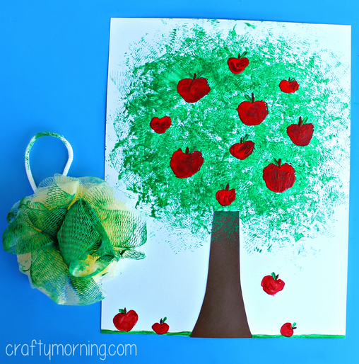 pouf-sponge-apple-tree-craft-for-kids-