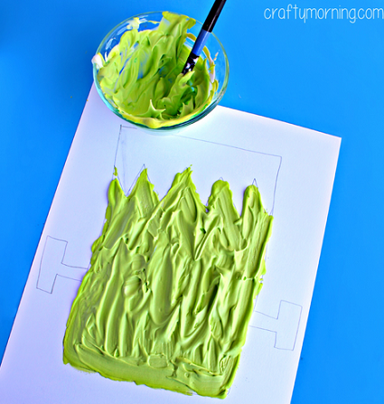 puffy-paint-frankenstein-halloween-craft-for-kids-