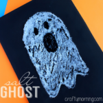 Easy Salt Ghost Craft for Halloween