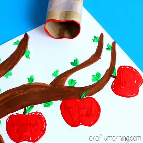 toilet-paper-roll-apple-stamp-craft-