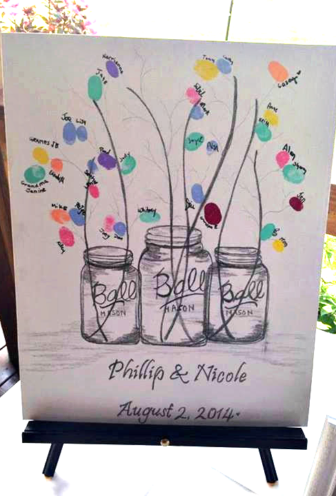 wedding-guestbook-mason-jar-fingerprint-idea