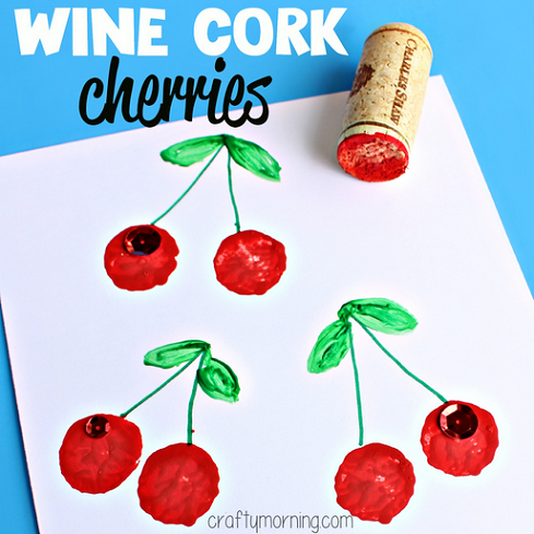 wine-cork-cherries-craft-for-kids