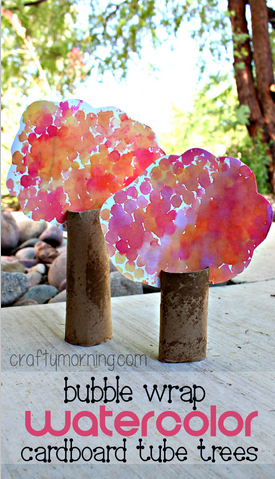 bubble-wrap-cardboard-tube-tree-craft