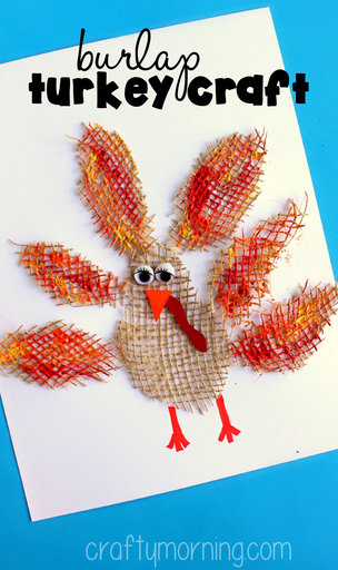 burlap-turkey-craft-for-kids-