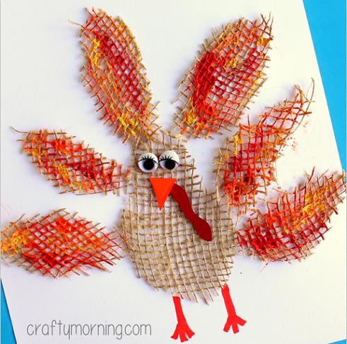 burlap-turkey-craft-for-thanksgiving--