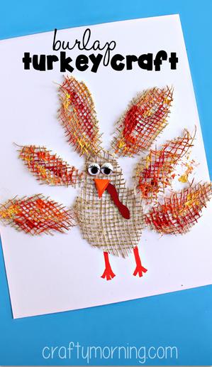 burlap-turkey-craft-for-thanksgiving