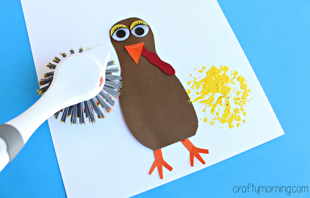 dish-brush-turkey-thanksgiving-craft-