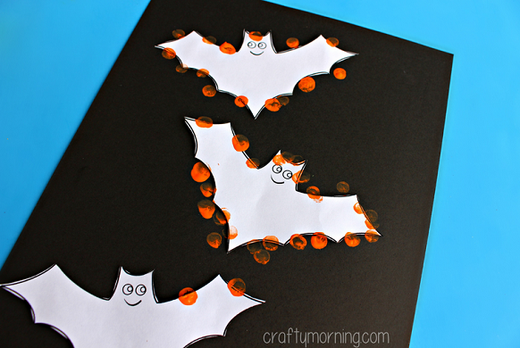 Fingerprint Bat Silhouette Craft For Kids Crafty Morning