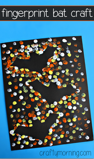 fingerprint-bat-kids-craft-for-halloween