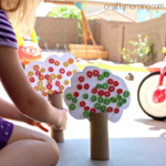 Toilet Paper Roll Fall Tree Craft Using Fruit Loops