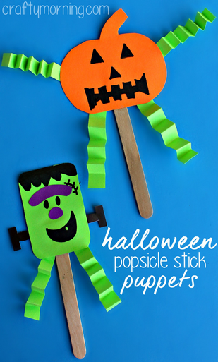 Easy Halloween Popsicle Stick Puppets Crafty Morning
