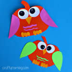 Paper Pumpkin Owl Craft for Kids