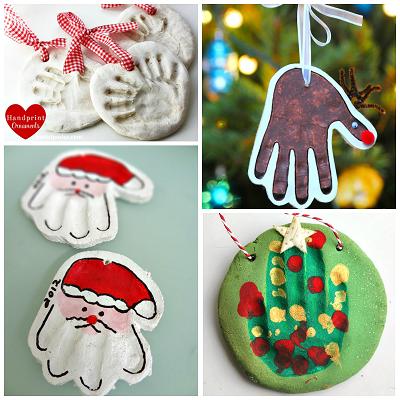 Homemade Salt Dough Handprint Ornaments