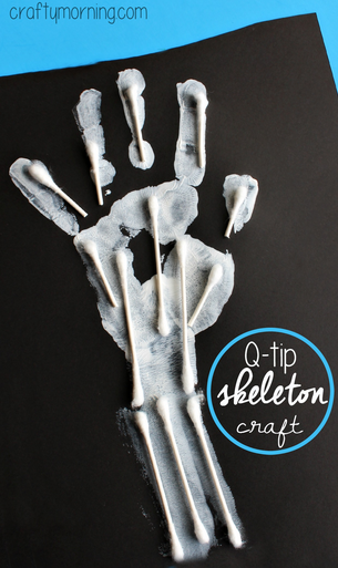 handprint-skeleton-q-tip-craft-for-kids