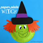 Paper Plate Witch Craft for Kids