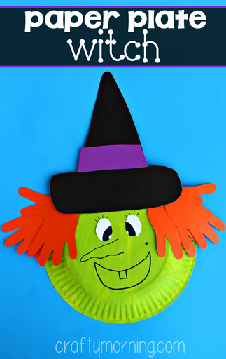 Paper Plate Witch Craft for Kids , Crafty Morning
