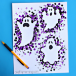 Pencil Eraser Ghost Craft for Halloween