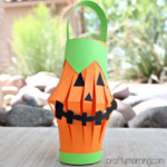 Pumpkin Toilet Paper Roll Lantern Craft