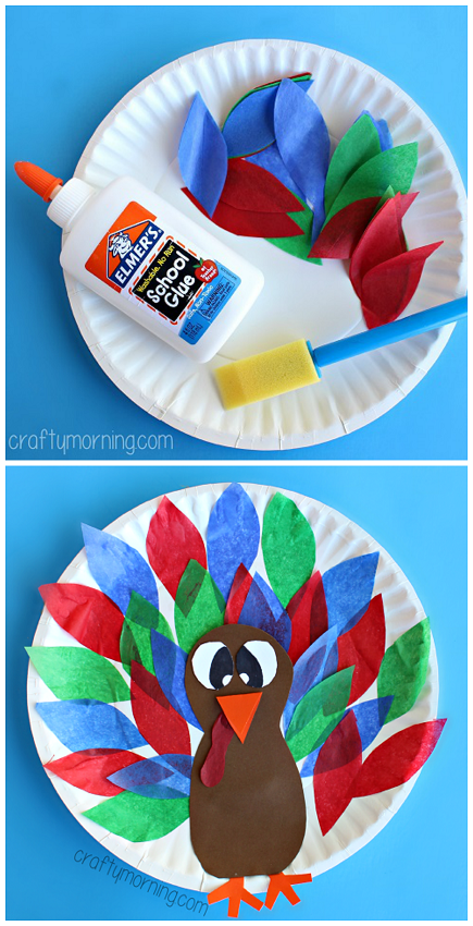 tissue-paper-turkey-craft-for-kids