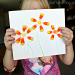 Make Flowers out of Candy Corn (Kids Craft)