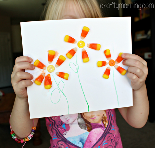 candy-corn-flower-craft-for-kids