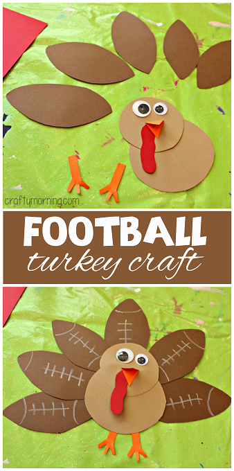 football-turkey-craft-for-kids-to-make