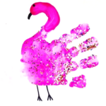 Easy Handprint Flamingo Craft for Kids